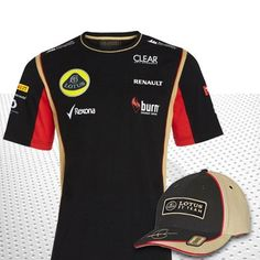 Official Lotus F1 Team Merchandise  The 2013 Lotus F1 Grosjean Team Bundle Pack.  This brilliant bundle pack consists of the official 2013 Lotus F1 Team T Shirt and Grosjean Team Cap which would make the perfect combo when visiting Grand Prix weekends throughout the 2013 Formula 1 season.  At a price far under that of RRP we think this is a fantastic gift for any fan of the Lotus F1 team during the 2013 F1 season.  RRP £54.95 now £50.95