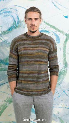 4a03d2ecc01c Pullover tricoté avec la qualité Milton de Lang Yarns. Vous trouverez les  explications de ce