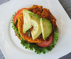 Spicy BBQ Chickpea Burgers & Lightened-Up Crispy Baked Fries Recipe ...