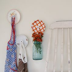 Upcycled Plate Hooks {making one of these for the small wall in my kitchen, what a great hook an apron}