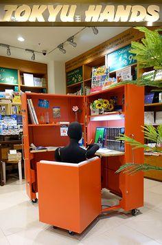 """Atelier OPA » 建築家具/磁性形態:東急ハンズ銀座店にて販売中、""""MAGNETIC FORMS"""" foldaway office is now on sale in Japan"""