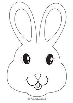 Maschera da coniglietto da colorare e ritagliare