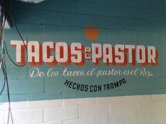 tipografía, lettering, typography, signpainting, pintado a mano, rotulismo, mural, menu, vintage, painted, handmade, hecho a mano, tacos, mano de santo