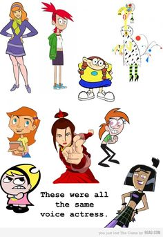 All these characters were played by the same voice actress. Mind blown.