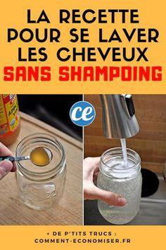 Plus+Besoin+d'Acheter+de+Shampoing+!+Utilisez+du+Bicarbonate+Et+Du+Vinaigre+de+Cidre+à+la+Place.