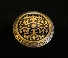 Vintage Guilloche Compact Powder Compact,  Gold Plated Enamel Compact 1930s ~ Gorgeous