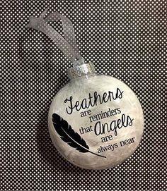 Memorial ornament Christmas ornament in memory of ornament Memorial Ornaments, Christmas Ornament Crafts, Angel Ornaments, Memorial Gifts, Xmas Crafts, Christmas Balls, Christmas Art, Christmas Holidays, Christmas Decorations