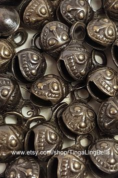 421e3ec40 Set of 10 FACE Bells, Bell India, bell supplies, Sarna Bell, Embossed Bell,  Buddhist Kabbalah, Hanging Bell string temple antique vintage