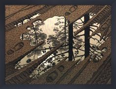 Puddle Art Print by M.C. Escher - WorldGallery.co.uk