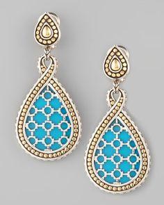 John Hardy Dot Turquoise Teardrop Earrings - Neiman Marcus
