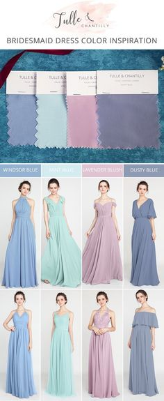 spring summer wedding color inspiration with bridesmaid dresses #wedding #bridesmaiddresses