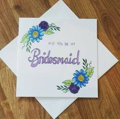 This item is unavailable Be My Bridesmaid Cards, Will You Be My Bridesmaid, Wedding Stationery, My Etsy Shop, Bridal, Unique Jewelry, Handmade Gifts, Check, Kid Craft Gifts