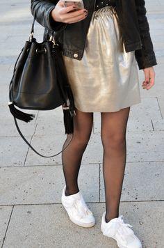 blogueuse mode montpellier puma heart patent jupe dorée zara