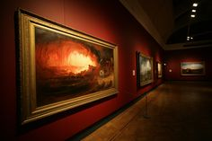 The Destruction of Sodom and Gomorrah on show at the Laing Art Gallery in 'John Martin: Heaven and Hell' in Sodom And Gomorrah, John Martin, Heaven And Hell, Destruction, Art Gallery, Painting, Art Museum, Painting Art, Paintings