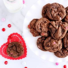 Bake up some love with these decadent super rich and chewy cookies made for chocolate lovers!