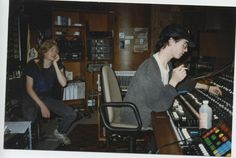 Dwayne Goettel and Dave Ogilvie, from Skinny Puppy, during recording of Vivisect v1 in Mushroom studios, 1987.