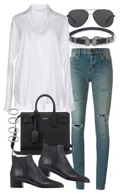 """""""Untitled #19997"""" by florencia95 ❤ liked on Polyvore featuring Yves Saint Laurent, Aglini, Michael Kors, Acne Studios and Forever 21"""