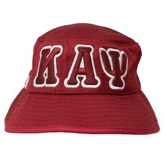 a9a0fbabc63 Kappa Alpha Psi KAΨ Greek Letters Mesh Flex Fit Embroidered Bucket Hat