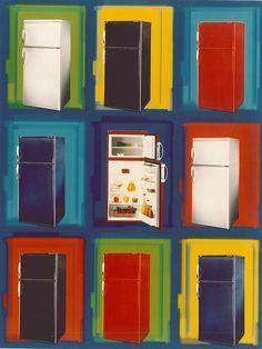 Santo Special Edition 1998 - bunte Kühlschränke von AEG