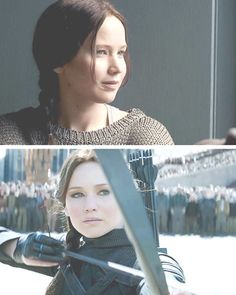 Katniss Everdeen in Mockingjay part 2