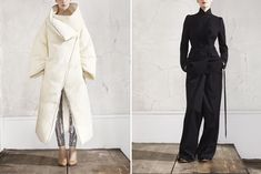Maison Martin Margiela for H both jackets + oversized wide-leg light pants w/ fitted top