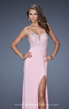 Strapless Gown by La Femme 19869