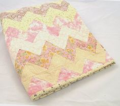 Sweet baby girl quilt... great shower gift idea. On Etsy.