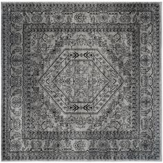 Safavieh Adirondack Silver/ Black Rug (8' Square) - Overstock™ Shopping - Great Deals on Safavieh Round/Oval/Square