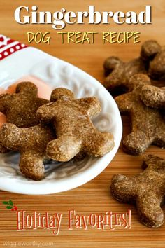 Nutritious and delicious! Packed with tasty, healthy ingredients these gingerbread men make you feel good about treating your dog at Christmas. or at any time of year! Horse Treats, Puppy Treats, Diy Dog Treats, Homemade Dog Treats, Healthy Dog Treats, Dog Cookie Recipes, Easy Dog Treat Recipes, Dog Biscuit Recipes, Dog Food Recipes