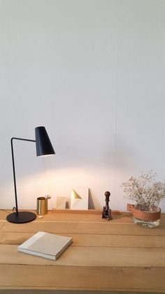 Finn by Cedric Koppers / steel lamp Desk Lamp, Table Lamp, Steel, Lighting, Projects, Design, Home Decor, Log Projects, Table Lamps