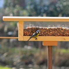 Vogelhaus, Futterhaus, Vogelfutter, Insektenhotel, Nistkasten - Futterhaus Langbank natur Futterplatz tät tat