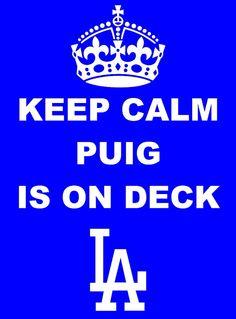 62105bbc8a9 Los Angeles Dodgers Yasiel Puig Keep Calm Shirt Dodgers Shirts