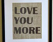 Burlap Wall Art ... need to make one for our bedroom