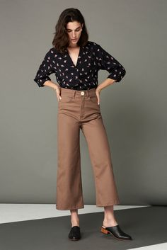 7b22eec4b76e98 Flora Pant in Mauve · Whimsy   Row · Sustainable Clothing   Lifestyle Brand