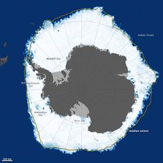 In late September 2013, the ice surrounding Antarctica reached its annual winter maximum and set a new record. Sea ice extended over 19.47 million square kilometers (7.51 million square miles) of the Southern Ocean. The previous record of 19.44 million square kilometers was set in September 2012.