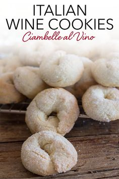 Wine cookies ciambelle al vino, a delicious, crunchy, and not too sweet Italian cookie, made with white wine. Fast and easy. Perfect to add to your Christmas Cookie Collection or make any time of the year! #cookies #winecookies #Italianrecipes #christmascookies