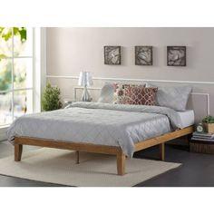 Zinus Solid Wood Platform Bed, Rustic Pine