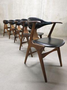 Danish style mid century vintage design, cow horn chairs www.bestwelhip.nl