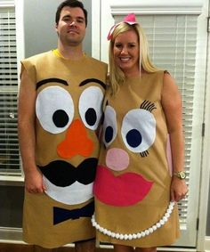 Disfraces para ir en Pareja - Disfraz Mr. y Mrs. Potato.