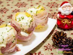 Patate al bacon con mozzarella  #ricette #food #recipes