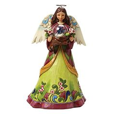 Jim Shore for Enesco Heartwood Creek Angel with Bird in Glass Dome Figurine 925 *** Find out more about the great product at the image link.