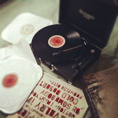Now Playing: Side B -- Instagram July 2012 #record #playing #vinyl #circle #music #vintage #kingsofleon #rock