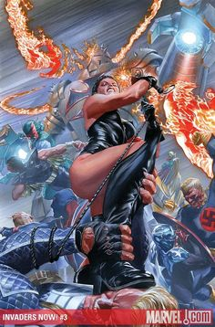 Captain America and Invaders by Alex Ross