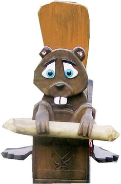 Beaver mailbox with a real beaver stick by CrossKnots on Etsy, $145.00 with free shipping