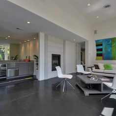 Living Room Polished Concrete Floor Design, Pictures, Remodel, Decor and Ideas