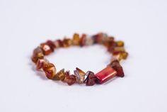GENUINE HEALING CARNELIAN Crystal Stone Chip Bracelet  #Bracelets