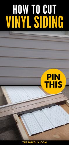 DIY tools / techniques Vinyl siding is relatively cheap, is easy to install and low maintenance, and Vinyl Soffit, Vinyl Siding Installation, Siding Repair, House Cladding, House Siding, Siding Materials, Shed Plans, Cabin Plans, Home Repairs