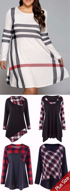 #PlusSize #Plaid #Shirts Up To 90% OFF | Start From $8 | Sammydress.com