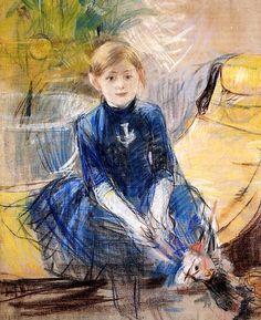 bofransson:  Little Girl in a Blue Dress Berthe Morisot - 1886