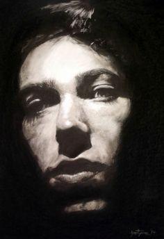 charcoal - self portrait